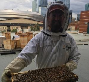 Troy Donovan, Resident Urban Beekeeper at MacEwan