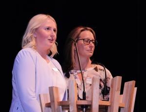 Katherine Rogers and Kari McDonald